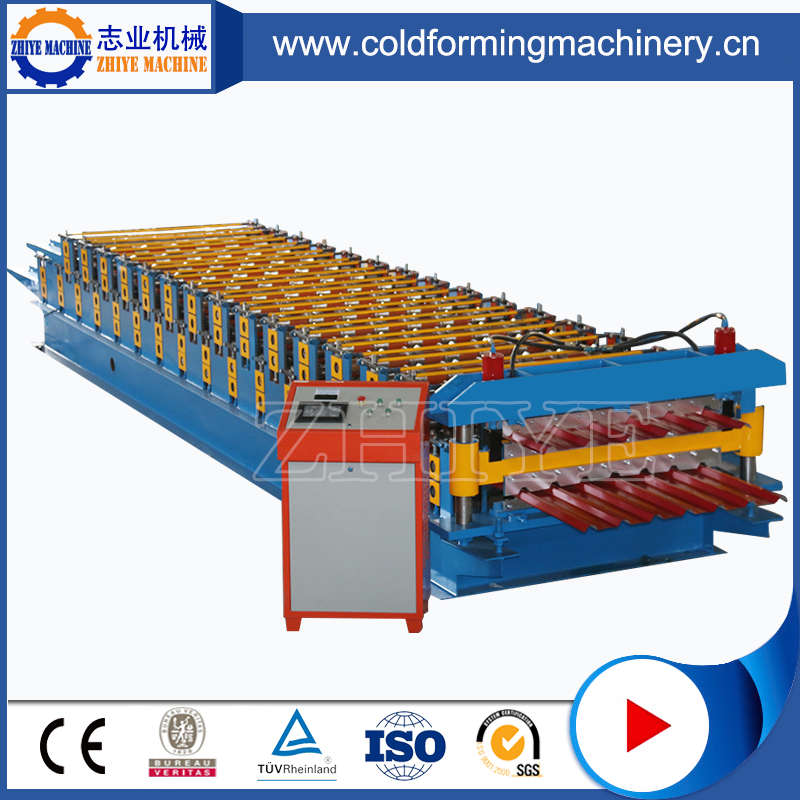 Plc Controlling Double Layer Wall Or Roof Cold Forming Machinery
