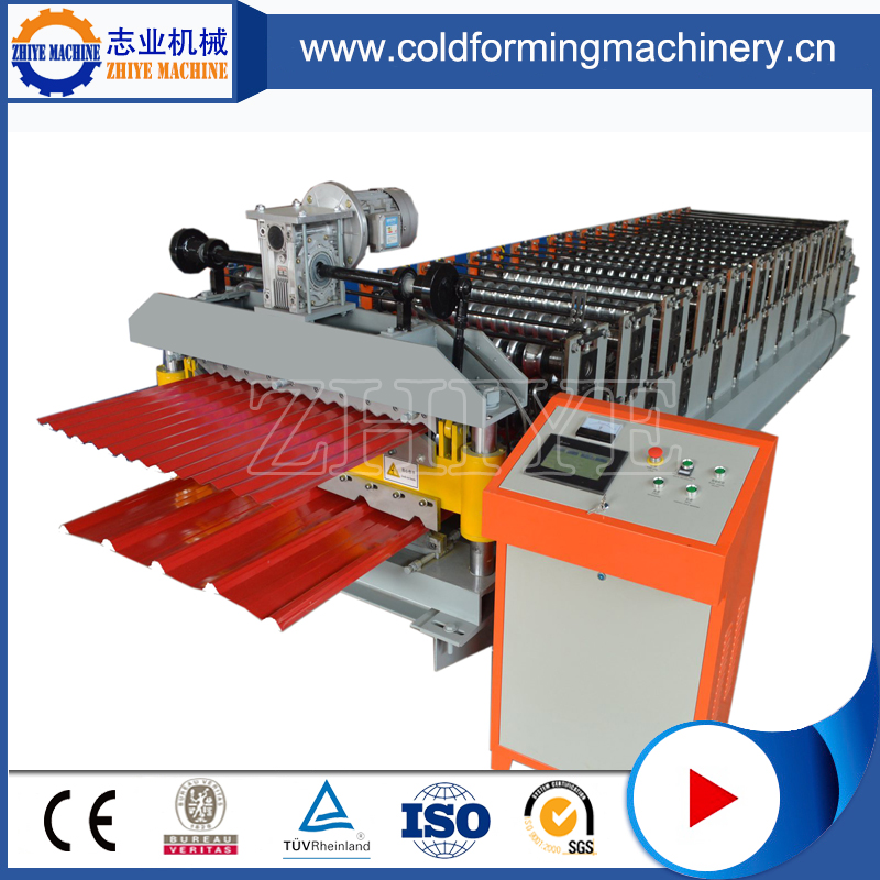 Ppgi Double Decker Roofing Panel Cold Forming Machinery