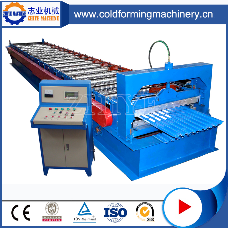 Aluminium Double Profile Corrugated Machine For Roofing Sheets