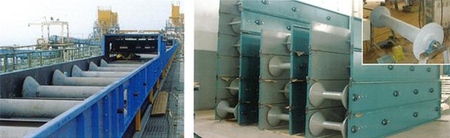 Single-idler Airtight Belt Conveyor for level transport materials