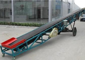 Mobile Belt Conveyor for level or slanted transporting materials