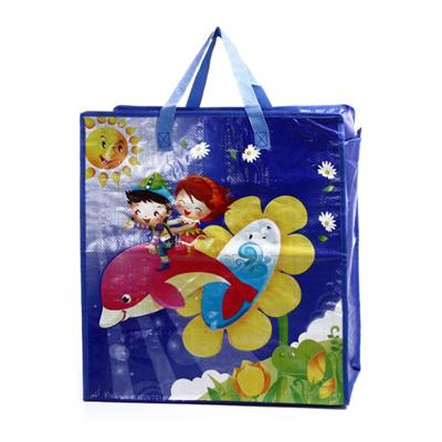 Nonwoven tote bags, laminated with printed logo