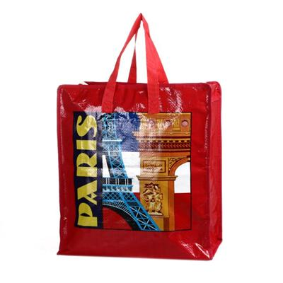 woven shopping bag, recyclable, durable and waterproof