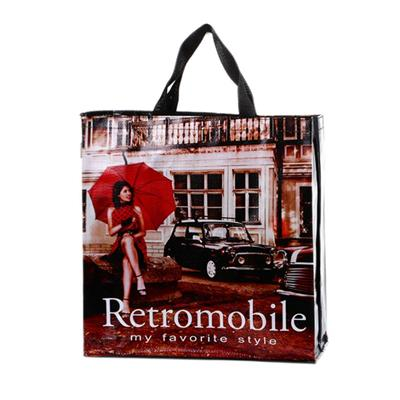 Customized eco-friendly durable recycled grocery woven tote bags