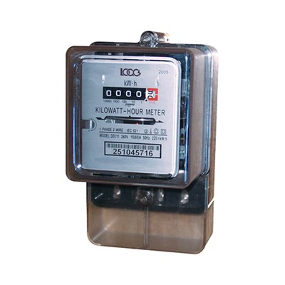 Electromechanical PC Cover Single Phase Meter