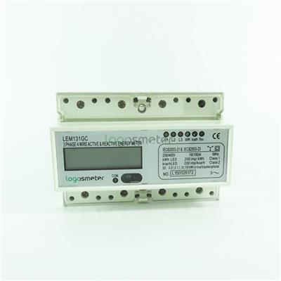 RS485 And Far Infrared Port Three Phase Electronic Active & Reactive Integration Energy Meter Din Rail Type