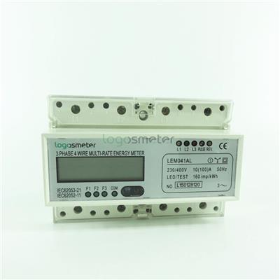 3 Tariffs Metering With Far Infrared And Rs485 Communication Three Phase Energy Meter Din Rail Type