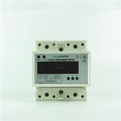 2 Tariffs Metering Single Phase Energy Meter Din Rail Type