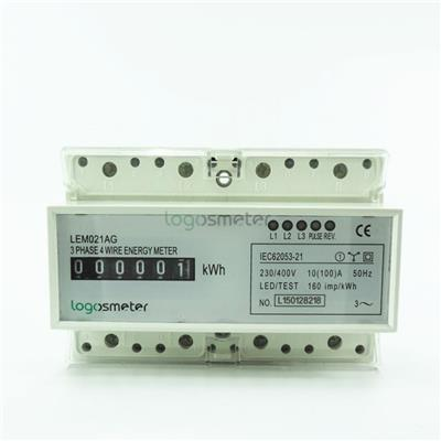 Analog Display Din Rail Three Phase 4 Wire Electronic Energy Meter