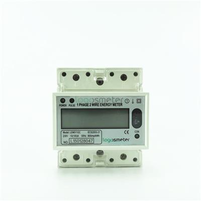 RS485 And Far Infrared Port Single Phase Energy Meter Din Rail Type