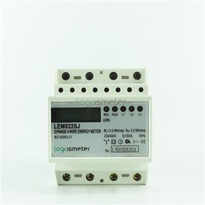 4P Ultra-thin Type Three Phase Electronic Din Rail Energy Meter