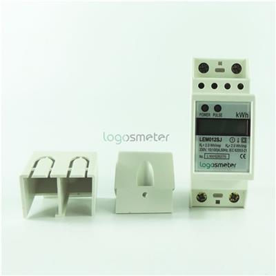 2P LCD Display DIN Rail Single Phase Electrical Energy Meter