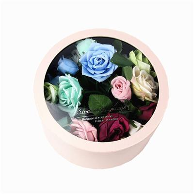 Handmade Fresh Flower Packaging Hard Paper Packing Gift Box With PVC Window