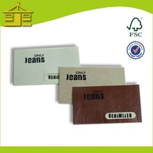 Custom  leather patches with metal logo and label leather