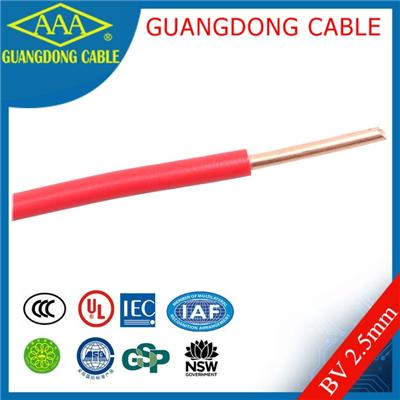 2.5 Electrical House Wire Cable Copper Single Pvc Insulation One Core Solid Wiring
