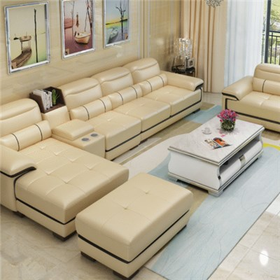 Cheapest Italy Leather Lounge Sectional Reclining Corner Sofa