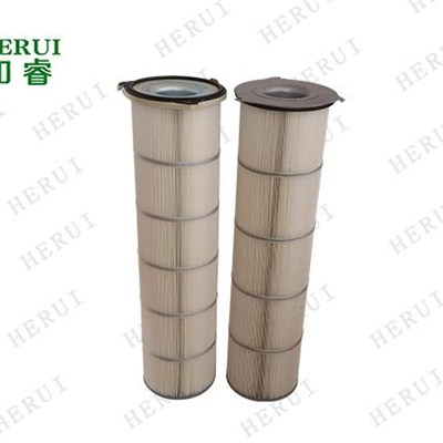 Custom Three - Ear Flanges Industrial Dust Filter Cartridge