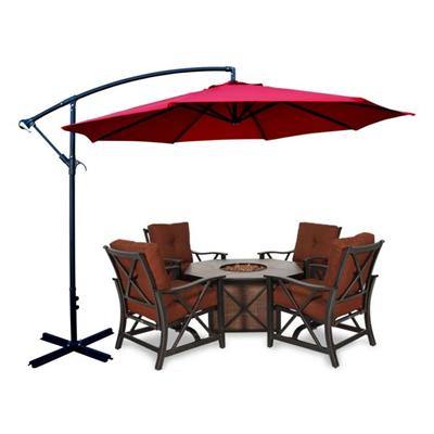 10' Outdoor Classic Hanging Patio Umbrella