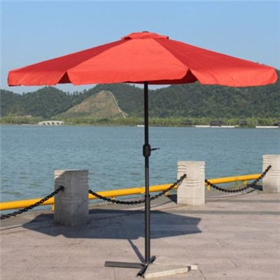 Crank And Flap Outdoor Straight Umbrella
