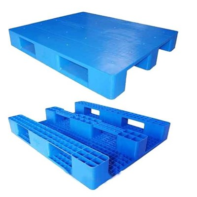 3 Skids Steel Tubes Reinforced Single Faced Heavy Duty Palstic Pallet