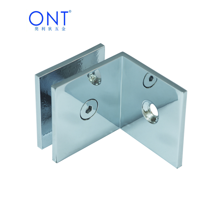Glass door connector