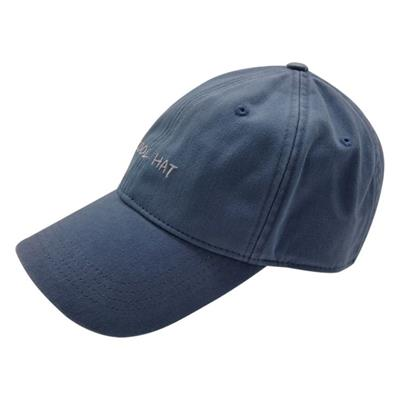 100% Chino Cotton Twill Fashion Casual Structured Baseball Hat With Velcro Back