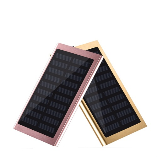 Ultra slim solar 10000mAh OEM free logo printing power bank