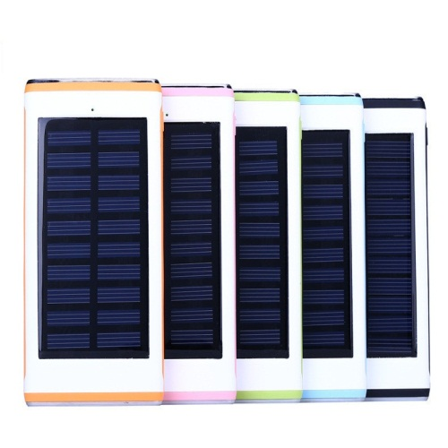 Water Cube solar 12000mAh power bank 3USBs output with 2 LEDs power bank charger