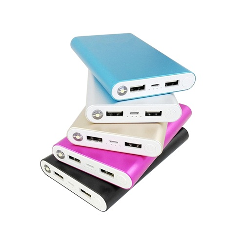 Delicate fast charge LCD digital 10000mAh external battery colorful power bank