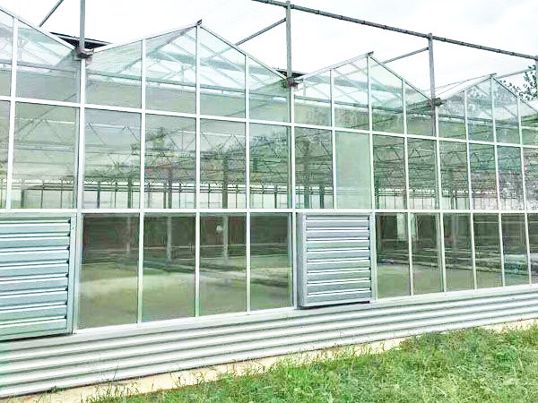 glass and plastic continuous arch greenhouse