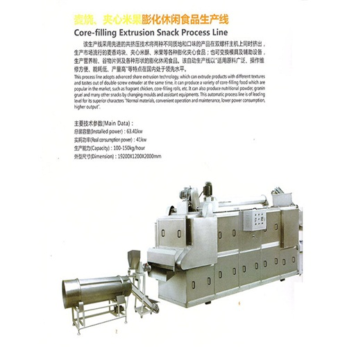 good quality a variety of Core-filling Extrusion Snack Process Line with advanced extusion technology