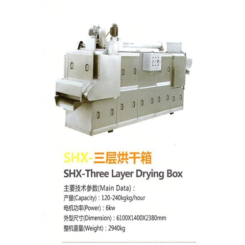 stainless steel 6kw the good quality Puffed food production line SHX-Three Layer Drying Box