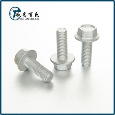 GR7 Titanium Alloy Flanged Hex Bolts & Screws
