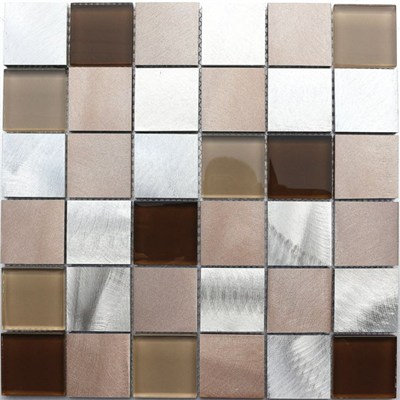 Lowest Price Aluminum Metal Mix Glass Mosaic
