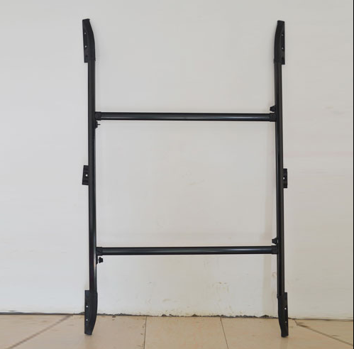 120-173cm Iron material black car luggage rack Clamping bracket