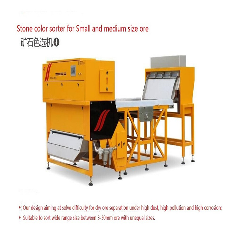 Color Sorter for nuts color sorting machine or Garlic or Cashew nuts color sorter machine Belt-scanner