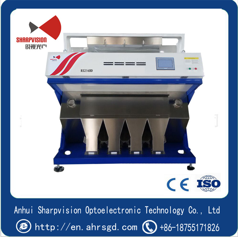 Grain color sorter for rice color sorting or grain color sorting machine