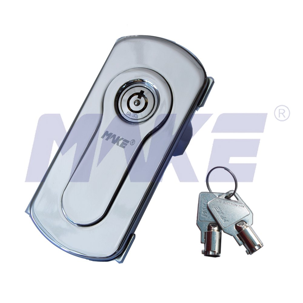 Vending Machine Lock, Zinc Alloy, Brass, L Pop-out Handle Operation