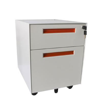 Office Two Drawer File Cabinet Mobile Pedestal Cabinet With Handle