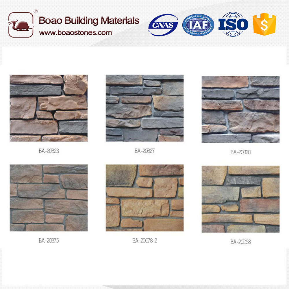 Artificial ledge stone wall cladding