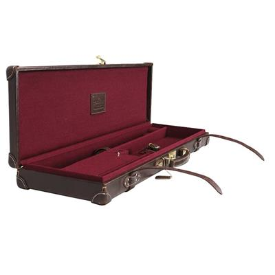Tourbon Vintage Leather Over And Under Hard Sided Gun Case For Sale