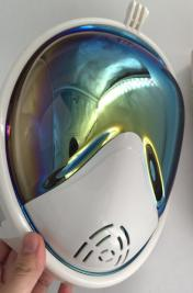fashion snorkel mask full face with plating effect