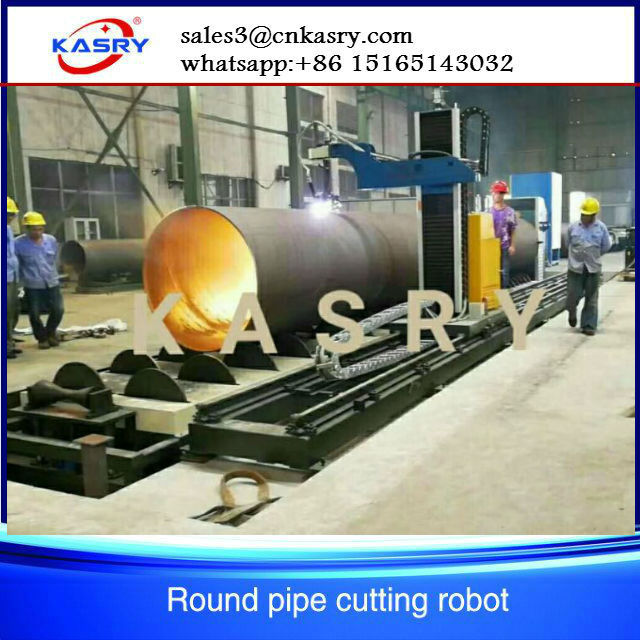 Large diameter cnc pipe cutting machine