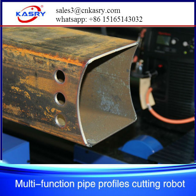 square tube round pipe oxy fuel plasma cutting machine
