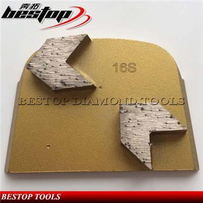 Lavina Diamond Concrete Grinding Tools With Double Arrow Diamond Segments