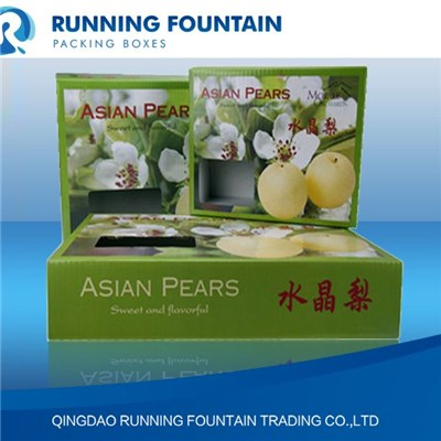 Single/double Flute Paper Carton With General/four Colors Printing Boxes Packaging For Fresh Crystal Pear/supermarket