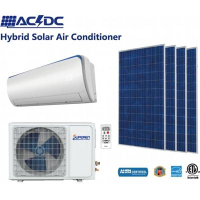12000BTU ACDC Solar Assisted Air Conditioning And Solar Powered Room Air Conditioner Solar Heat Pump