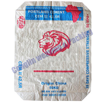 100%  PP woven laminated valve cement bag white color