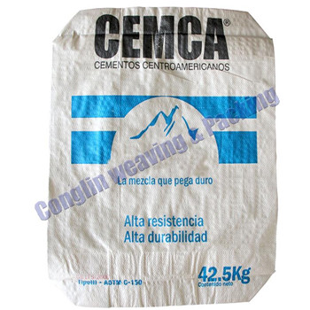 42.5kg brown color PP laminated valve sacks for cement packing