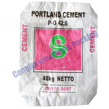 white color PP woven cement sack factory